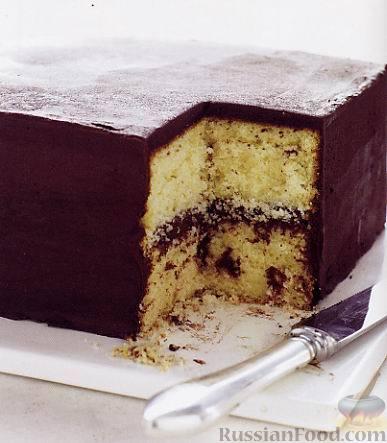Рецепт Масляный пирог с шоколадным кремом