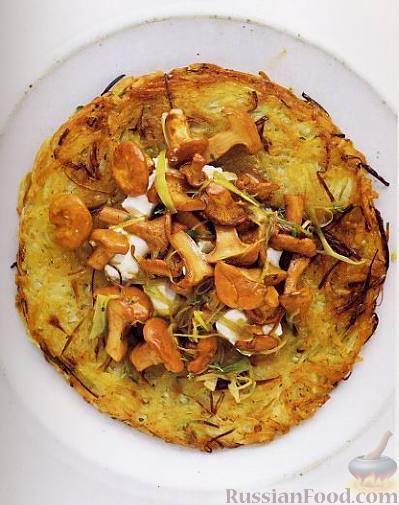 Рецепт Картофельное «рёшти» с грибами