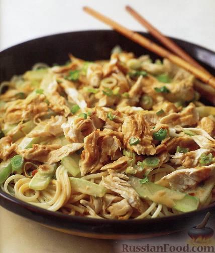 Рецепт Салат из курицы с кунжутом