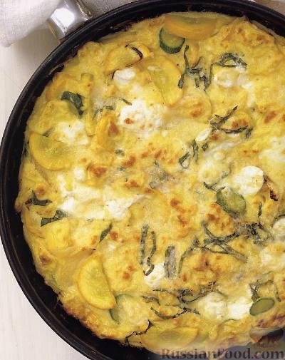 Рецепт Фриттата с кабачками и козьим сыром