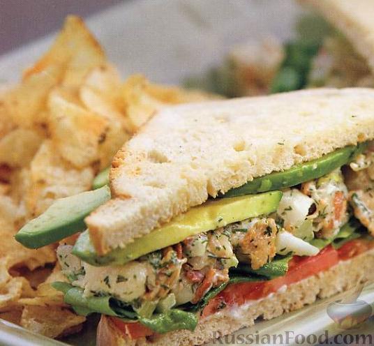 Рецепт Клубный сэндвич с лобстером