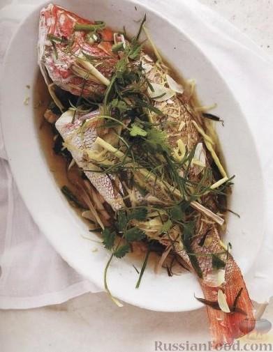 Рецепт Рыба, приготовленная целиком на пару