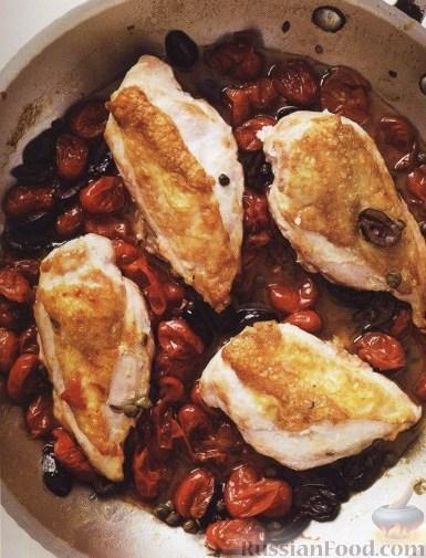 Рецепт Куриные грудки, жареные с помидорами