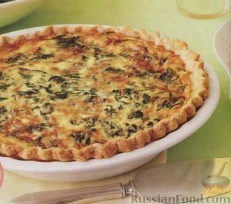 Рецепт Киш со шпинатом и сыром Грюйер