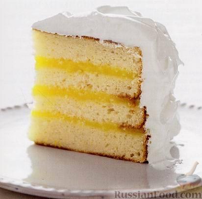 Рецепт Торт с лимонным кремом и итальянской меренгой