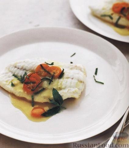 Рецепт Рыбное филе под соусом «beurre blanc» с цитрусовыми