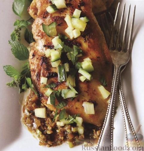 Рецепт Курица под острым соусом и сальса с ананасом