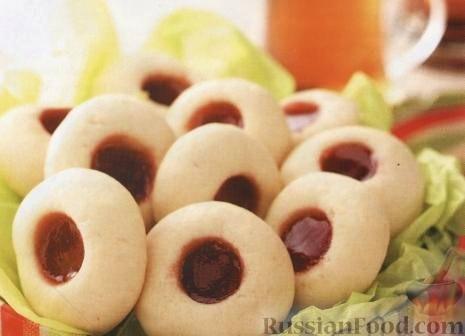 Рецепт Сливочное печенье с клубничным джемом