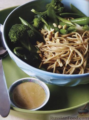Рецепт Ароматные спагетти с арахисовым соусом