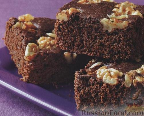 Рецепт Шоколадный пирог с орехами