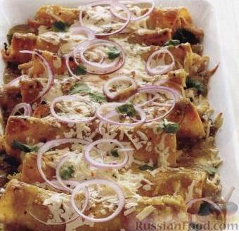 Рецепт Энчилада с курицей и сыром