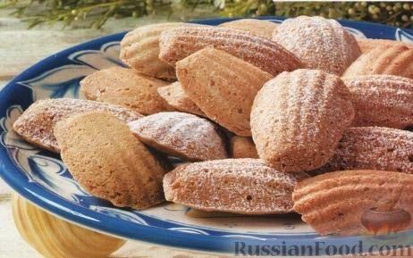 Рецепт Печенье «Мадлен» с фундуком