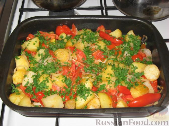 Рецепт Запеченый картофель с томатами