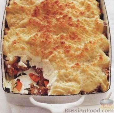 Рецепт Картофельная запеканка (пастушья запеканка) с овощами