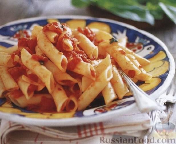 Рецепт Пенне с острым томатным соусом