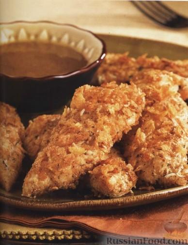 Рецепт Жареная курятина с медово-горчичным соусом