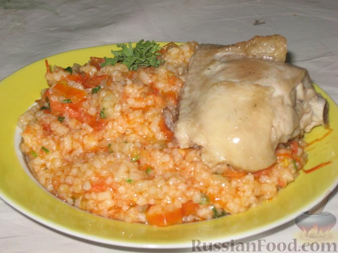 Рецепт Рис с овощами и курицей