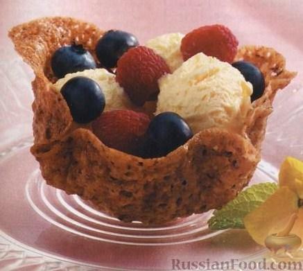 Рецепт Печеные корзинки для фруктов