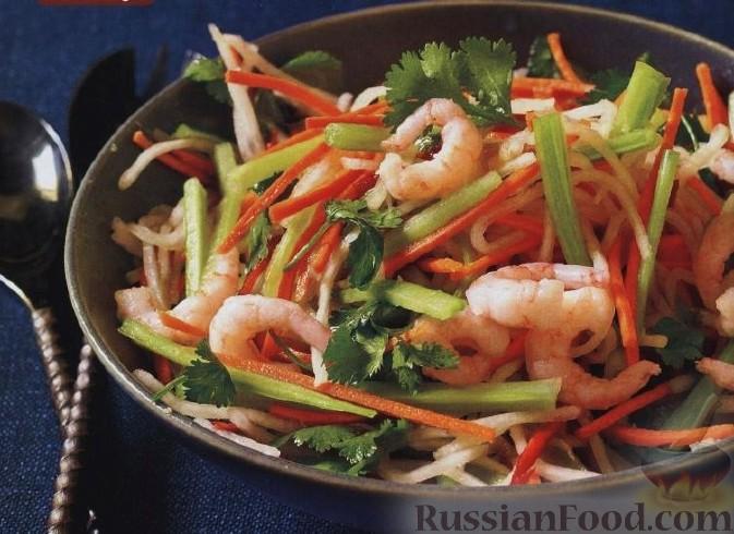 Рецепты салатов с креветками и сельдереем