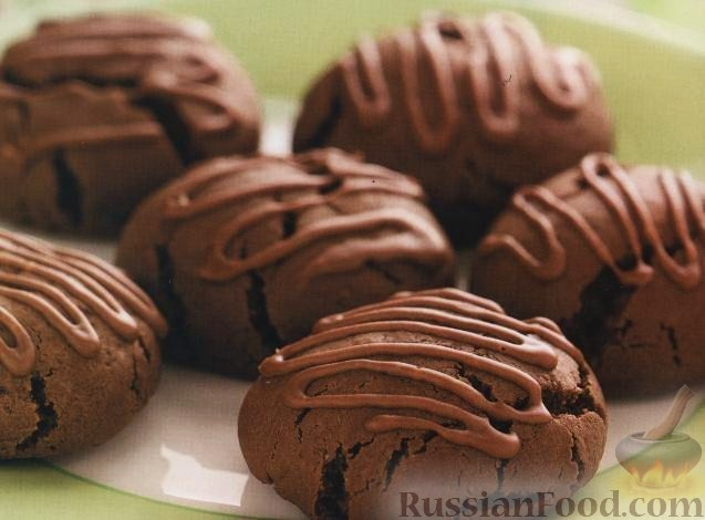 Рецепт Шоколадное печенье с миндальной глазурью