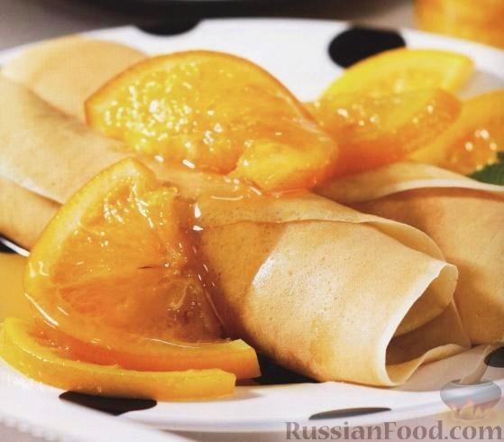 Рецепт Апельсины, консервированные с ликером «Куантро»