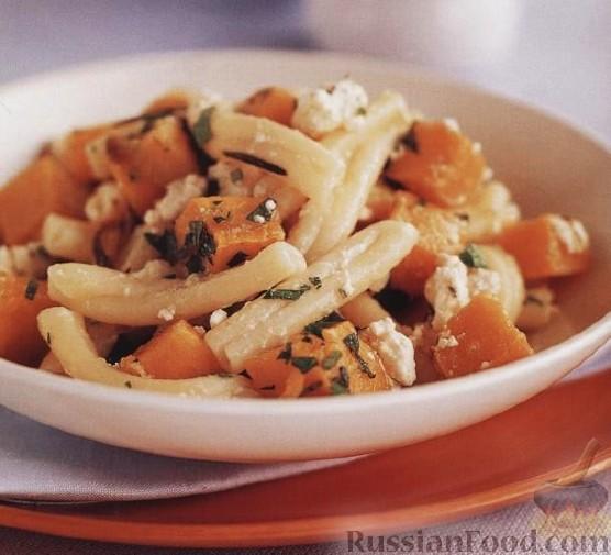 Рецепт Паста «Казаречче» с тыквой и сыром фета
