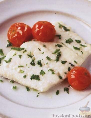 Рецепт Белая рыба, запеченная в вине