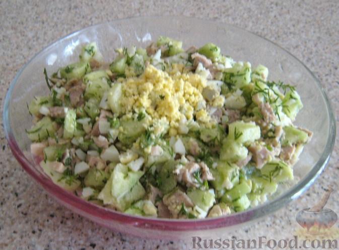 рецепт салата с печенью трески с фото