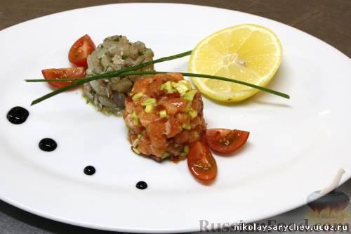 Рецепт Севиче из лосося и си-баса