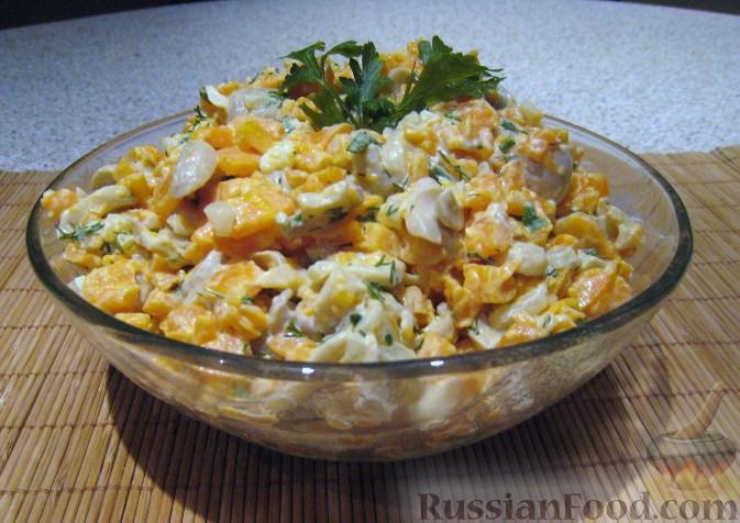 Рецепт Салат из моркови с грибами