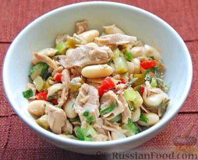Рецепт Салат с тунцом и белой фасолью