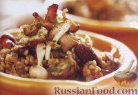 Фото к рецепту: Ризотто из перловой крупы с грибами и гремолатой