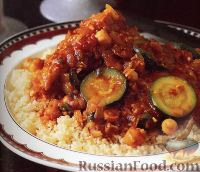 Фото к рецепту: Курица с цуккини и кускусом
