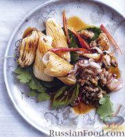 Фото к рецепту: Кальмары жареные с острой свининой