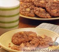 Фото к рецепту: Яблочно-овсяное печенье