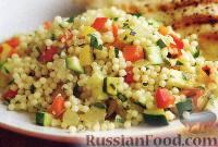 Фото к рецепту: Мелкая паста с овощами