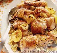 Фото к рецепту: Курица жареная с лимоном