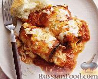 Фото к рецепту: Роллатини из баклажанов с сыром