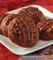 Фото к рецепту: Печенье шоколадно-кофейное «Трюфельное Мокко»
