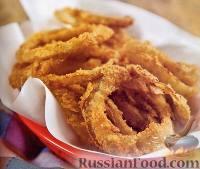 Фото к рецепту: Хрустящие луковые кольца
