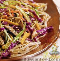 Фото к рецепту: Овощное «стир-фрай» с гречишной лапшой «соба»