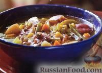 Фото к рецепту: Домашний суп с говядиной и овощами