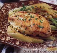 Фото к рецепту: Жареные куриные грудки с фенхелем и розмарином