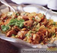 Фото к рецепту: Куриное филе с китайской капустой