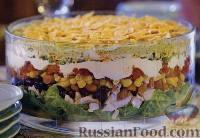 Фото к рецепту: Слоеный салат «Тако»
