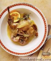 Фото к рецепту: Кролик с апельсинами