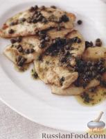 Фото к рецепту: Куриные отбивные под соусом с каперсами (пикката)