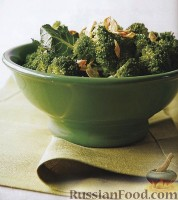 Фото к рецепту: Брокколи с чесноком