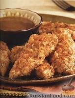 Фото к рецепту: Жареная курятина с медово-горчичным соусом