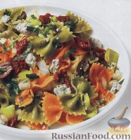 Фото к рецепту: Средиземноморский салат из пасты
